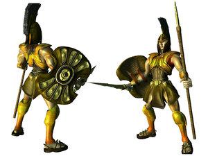 achilles trojan war 3d model