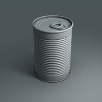 3d model tin food