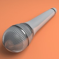 sony mic microphone 3d model