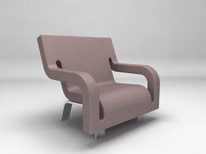 slot armchair 3d max