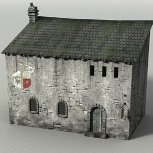 medieval stone-building 3ds