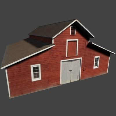 barn farm building 3d max