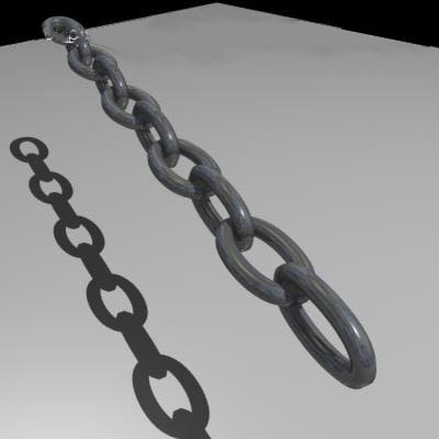3d chain links model
