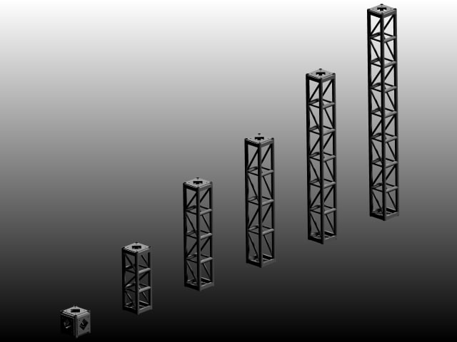 free light bolted trusses 3d model