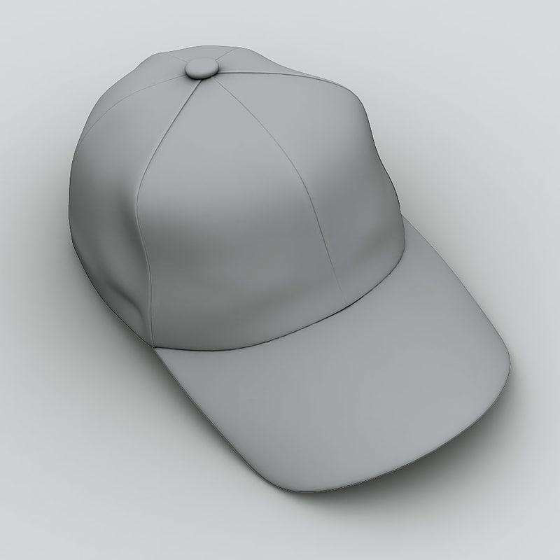 cap baseball 3d model