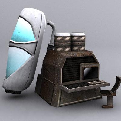 sci-fi pack 3d model