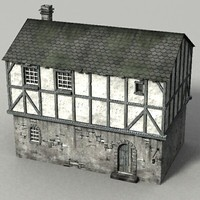 medieval stonehouse 3d model