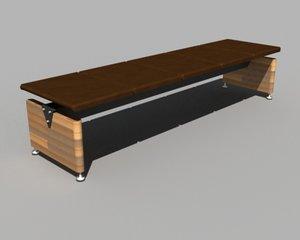 mobius bench 3d model