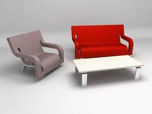 3d slot furniture family model