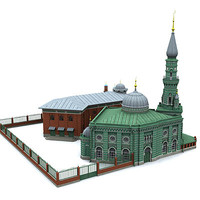 mosque islam 3d model