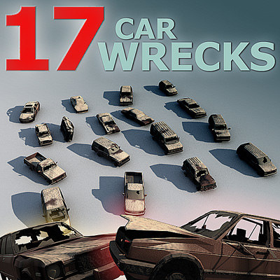 wrecks car 3d model