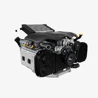 Flat Engine & Gearbox