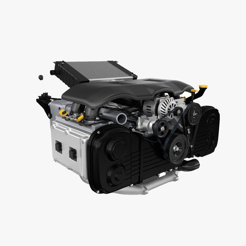 Model Car With Engine: Engine Car 3d Model