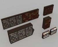 bookshelves book 3d model