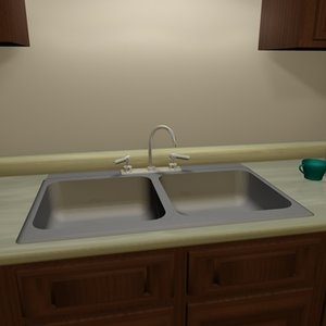 free kitchen sink 3d model