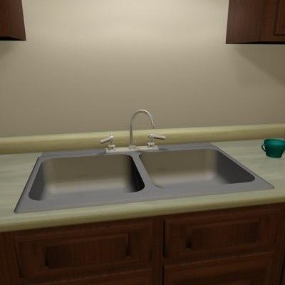 free kitchen sink 3d model