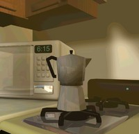 free espresso maker 3d model