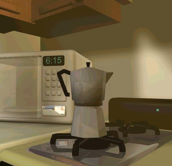 free espresso maker 3d model