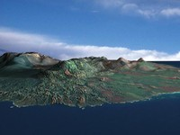 3ds max island mountain