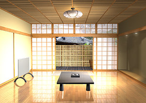 3d model japanese pagoda interior iges