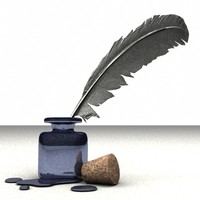 3d ink feather