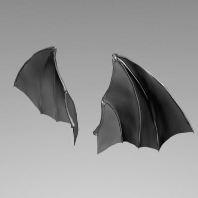 demon wing 3d model