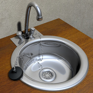 3d steel sink stainless