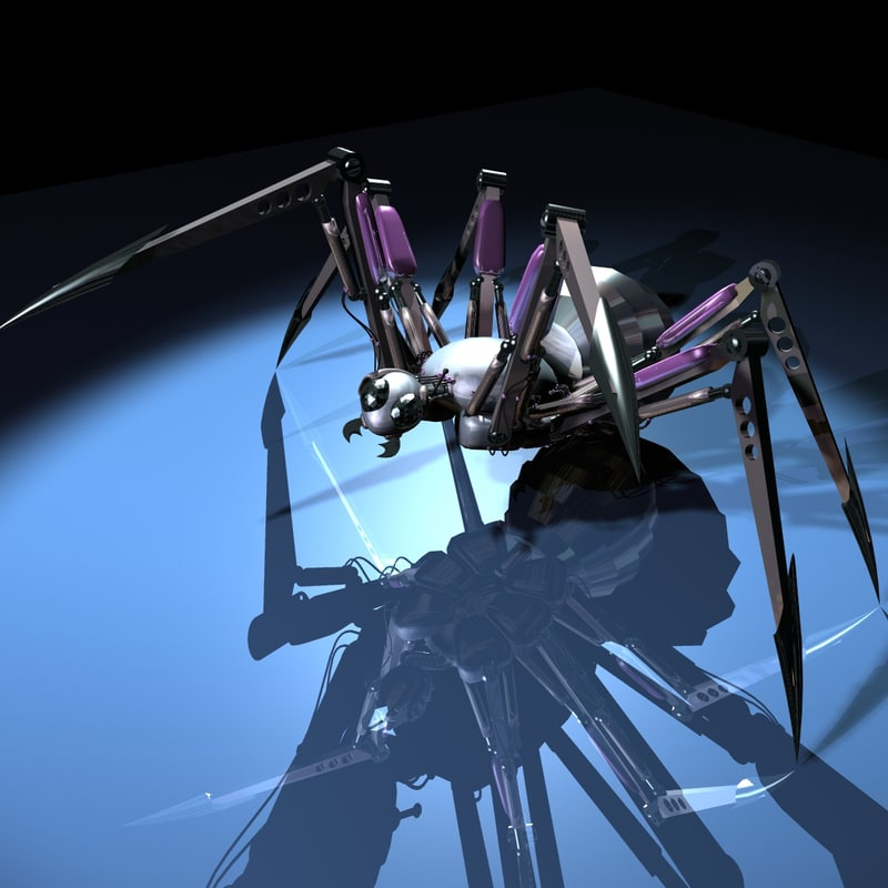 spider mech mecha 3d model