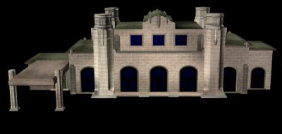 3d model union station lightwave