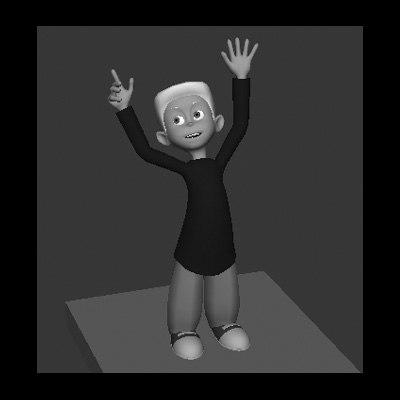 3d model character modeled