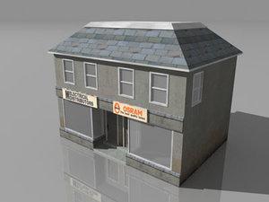 free small shops 3d model