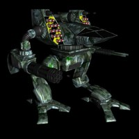free mechwarrior werewolf mech 3d model