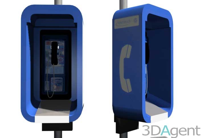 3dsmax payphone stall