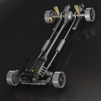 classic drive suspension 3d model