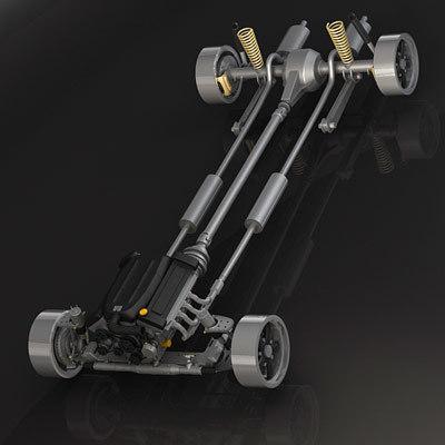classic drive suspension 3d model
