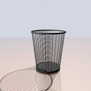 max wastebasket wire