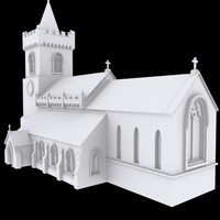 church building christian 3d model