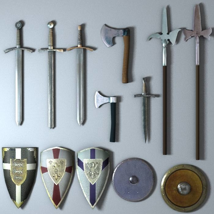 3ds max medieval weapon set 2