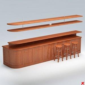 bar counter 3d 3ds