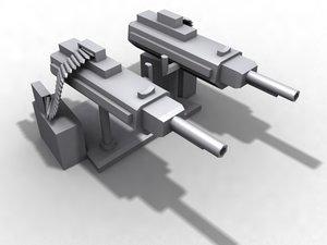 defensive machine guns 3d model