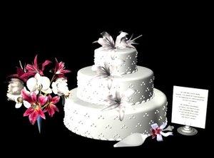 3d wedding cake model