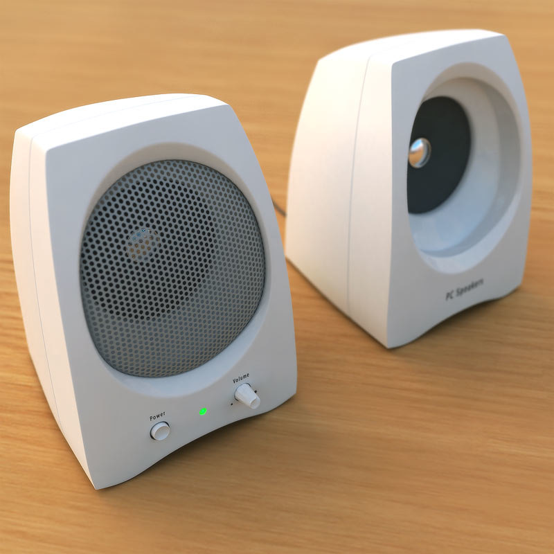 pc speakers 3d model