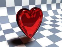 free love heart 3d model