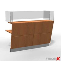 3d counter desk