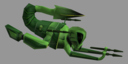 alien space fighter ship 3d model