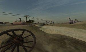 3d broken wagon wheel