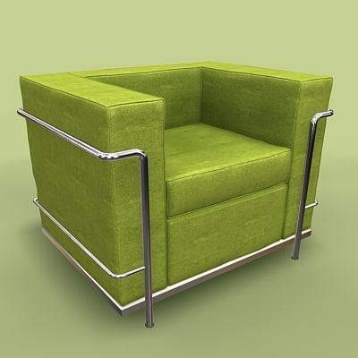 petit comfort chair 3d model