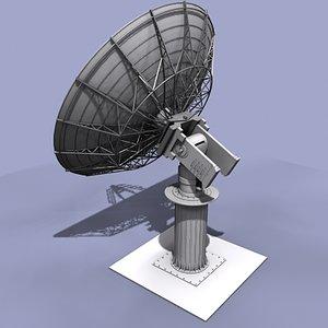 satellite antenna 3d model