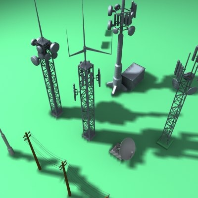 3d 3ds communications antennae