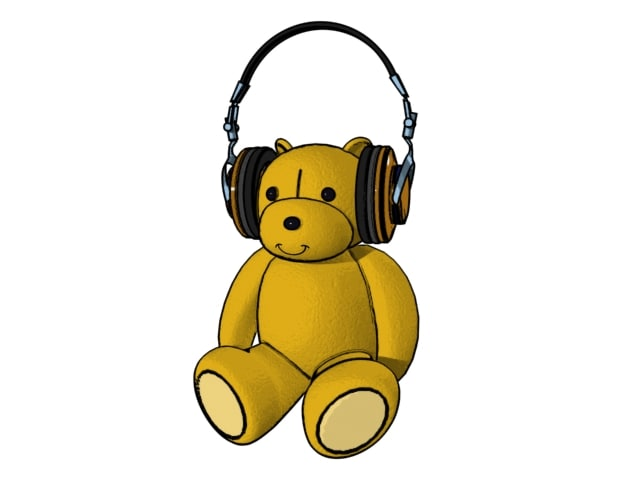 free teddy bear 3d model